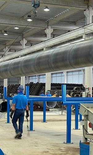 Fábrica tubo helicoidal
