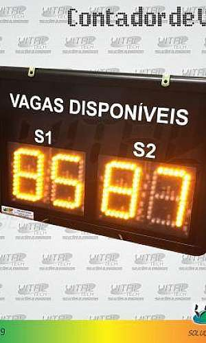 "IND-0269 (INDICADOR CONTADOR DE VAGAS DISPONÍVEIS 2 DÍGITOS 4"" POLEGADAS)"