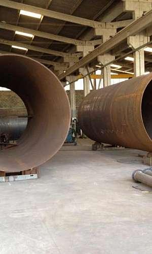 Tubo calandrado aço carbono