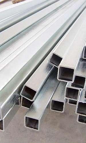 Tubo quadrado de ferro galvanizado preço