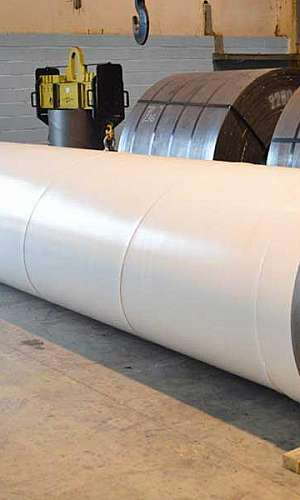 Tubos de aço carbono industrial